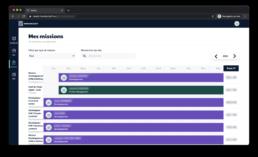 interface de la plateforme de recherche de consultants digitaux