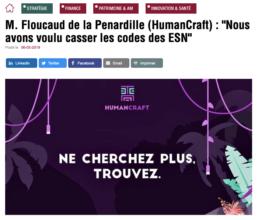 article de presse sur la société HumanCraft, acteur de l'intermédiation entre ESN et grands comptes