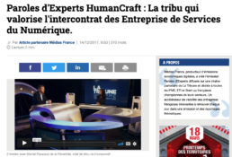 article de presse sur HumanCraft et l'intercontrat dans les ESN